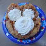 Dining in Disneyland: Churro Funnel Cake from Hungry Bear Restaurant