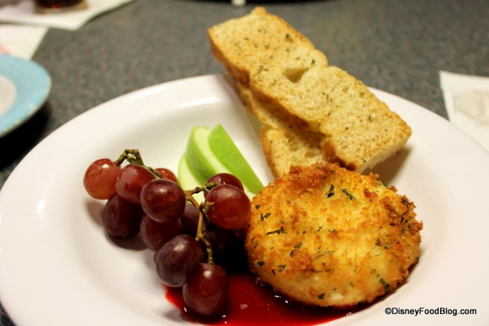 Fried Herb and Garlic Cheese