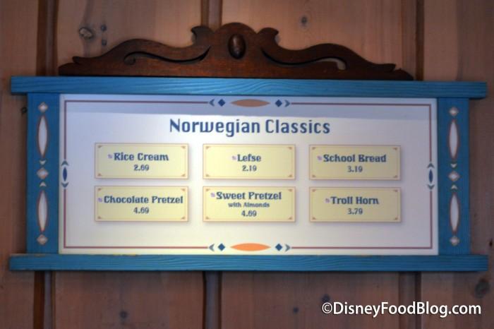 Norwegian Classics Menu