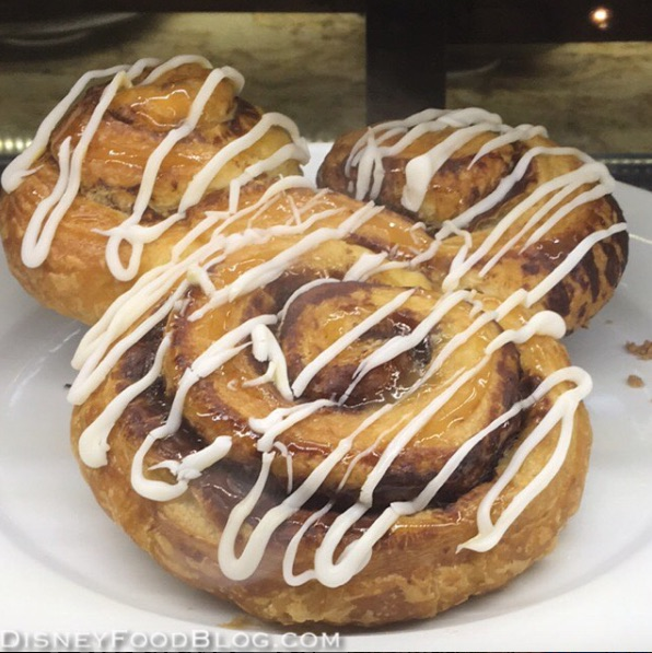 Warm Colossal Mickey Cinnamon Roll at Kusafiri Bakery