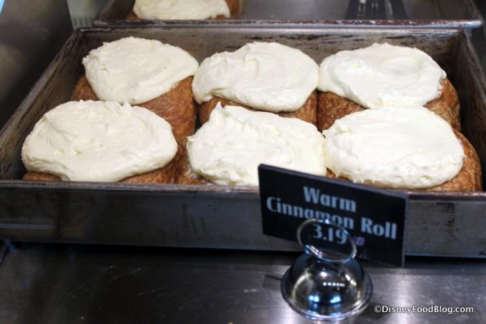 Pan of Cinnamon Rolls at BoardWalk Bakery