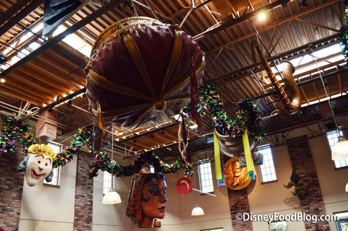 Parade Props Hanging From The Ceiling