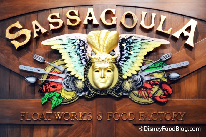 Sassagoula Floatworks and Food Factory Sign