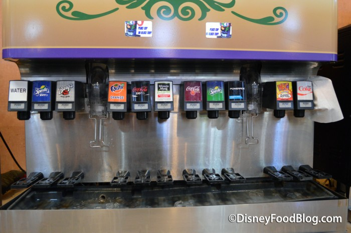 Fountain Soda Options