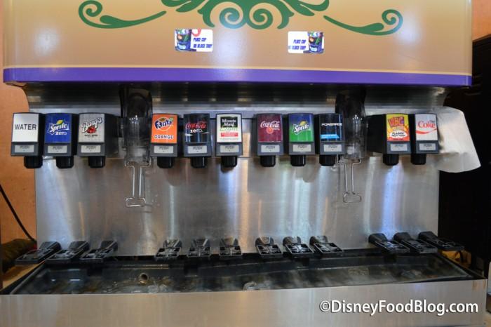 Fountain Soda Options