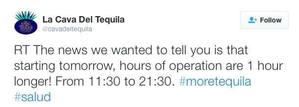 @cavadeltequila Twitter account