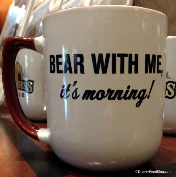 """Bear with me, it's morning"" Wilderness Lodge Mug"