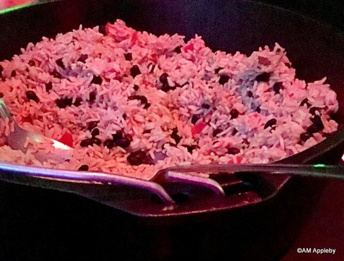 Vegetarian Dirty Rice in Cast Iron Cauldron
