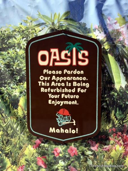 Oasis Pool Refurbishment sign