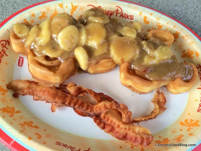 Bananas Foster Waffles