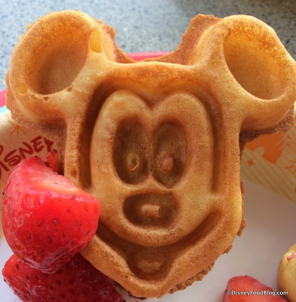Enjoy a Mickey Waffle during your holiday!
