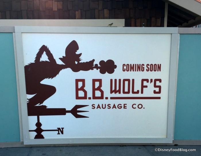 B.B. Wolf's Sausage Co. Coming Soon