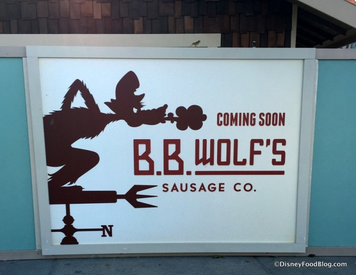 "B.B. Wolf's Sausage Co. ""Coming Soon"""