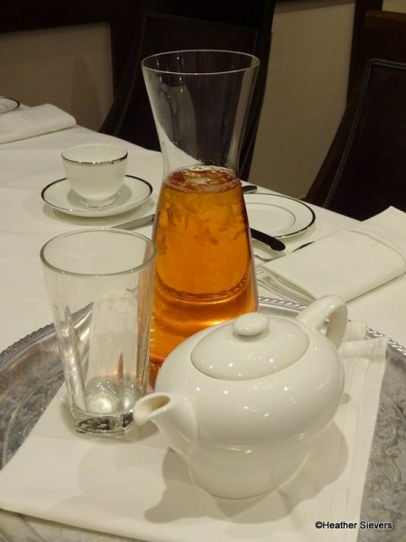 Both hot & iced teas may be ordered simultaneously.