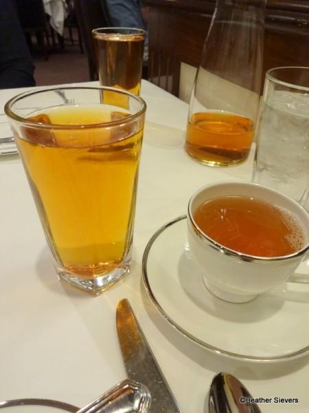 Tangerine Iced Tea & Eros Hot Tea
