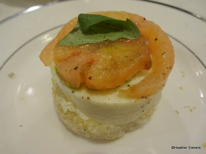 Heirloom Tomato and Mozzarella Sandwich