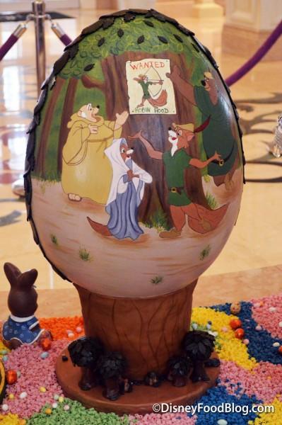 Back of Robin Hood Easter Egg