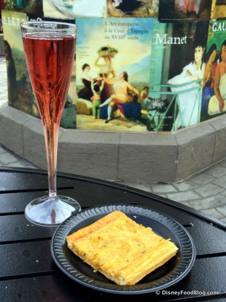 Kir Imperial and Alsatian Tart from Fleur de Lys Outdoor Kitchen