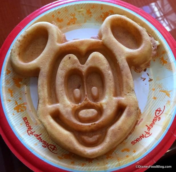 Jumbo Mickey Waffle