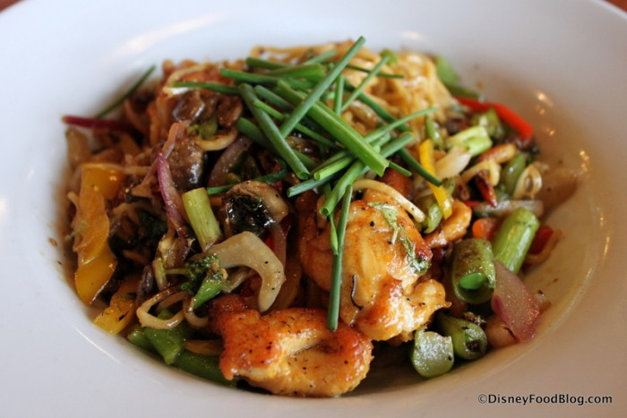 Pan-Asian Noodles with Chicken remain on lunch and dinner menu