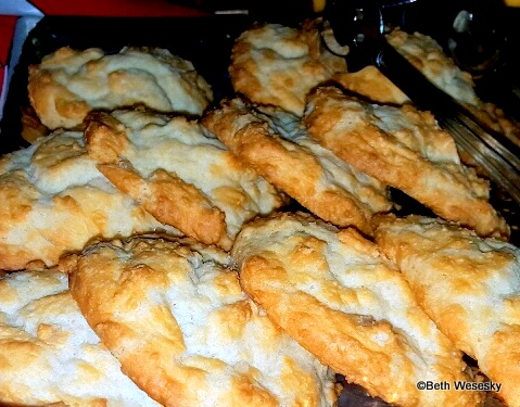 """Smoked Sea-Salted """"Quarter Ration"""" Biscuits with a delicious smoky dipping sauce"""
