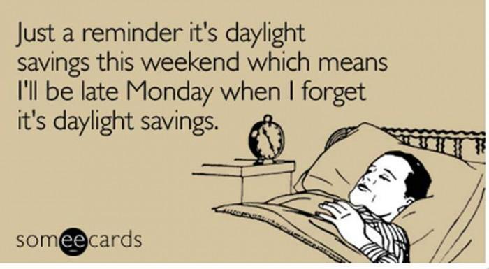 daylight savings ecard