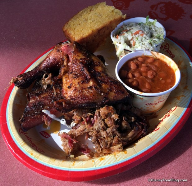 Ribs, Chicken, and Pulled Pork Sampler