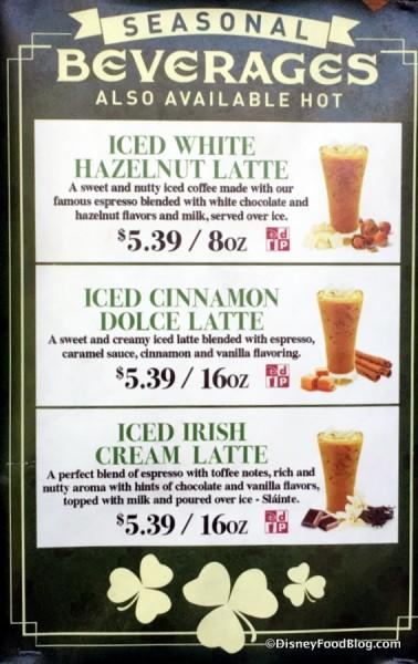 Joffrey's Seasonal Beverages