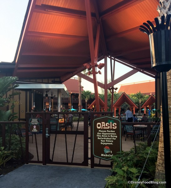 Oasis Pool Bar and Grill area