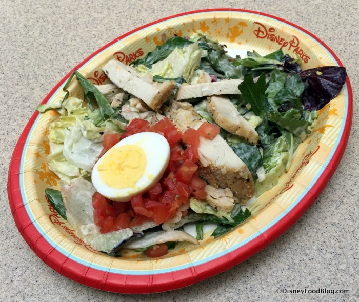 Roasted Chicken Salad with Mixed Greens