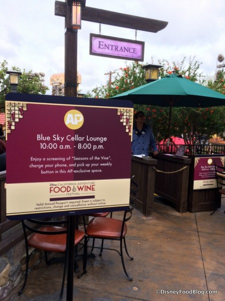 Annual Passholder Area at Blue Sky Cellar Lounge