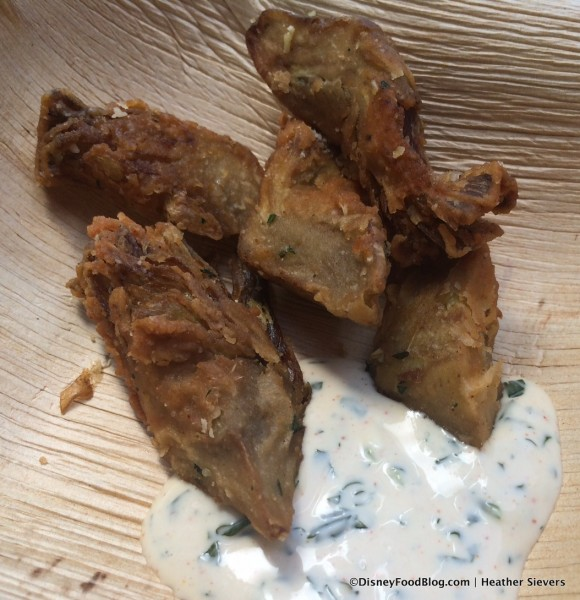 Artichoke Chips with Spicy Aioli
