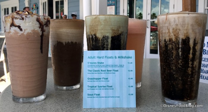 Adult Drink Menu at Beaches & Cream