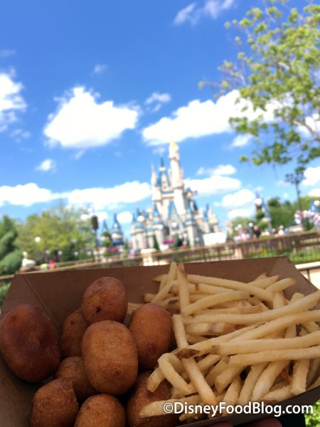 Corn Dog Nuggets and the Castle!