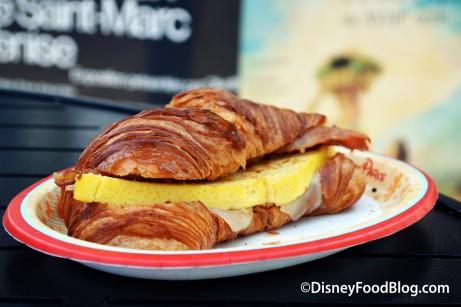 Croissant Salé in the Beautiful France Pavilion!
