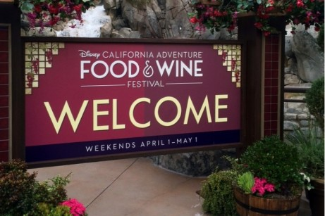 Disney California Adventure Food and Wine Festival 16 Welcome Sign Featured Pic