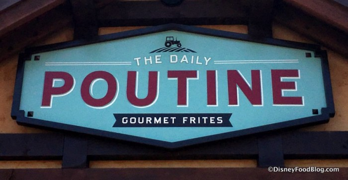 The Daily Poutine sign