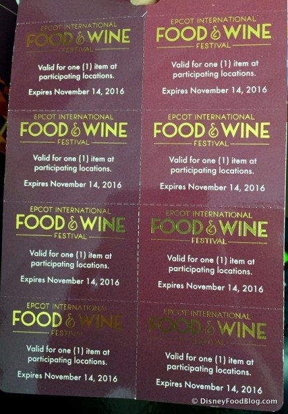 Tasting Sampler Entitlement Coupons