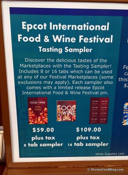 Tasting Sampler Information and Pricing