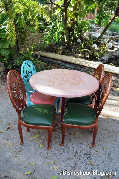 Mismatched Table and Chairs