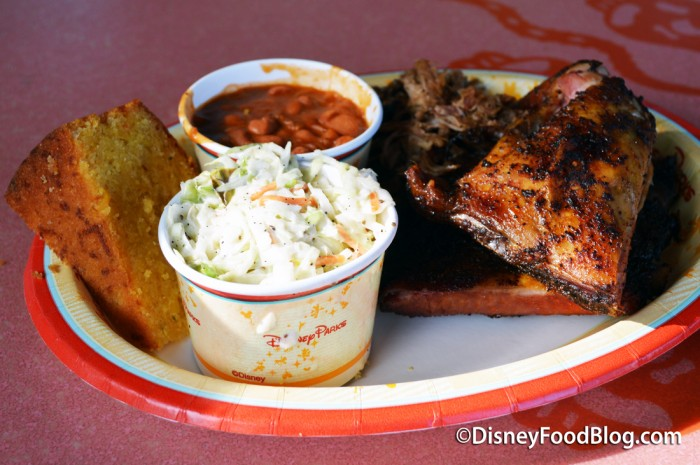 Ribs, Chicken and Pulled Pork Sampler