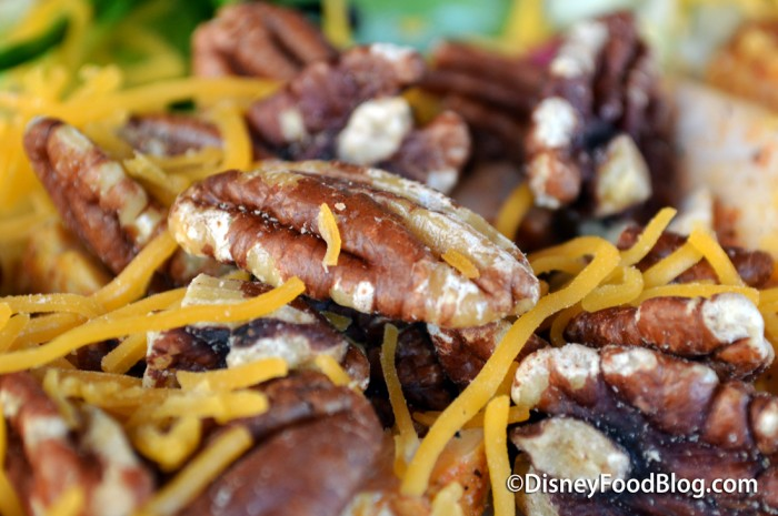 Shredded Cheddar and Pecans