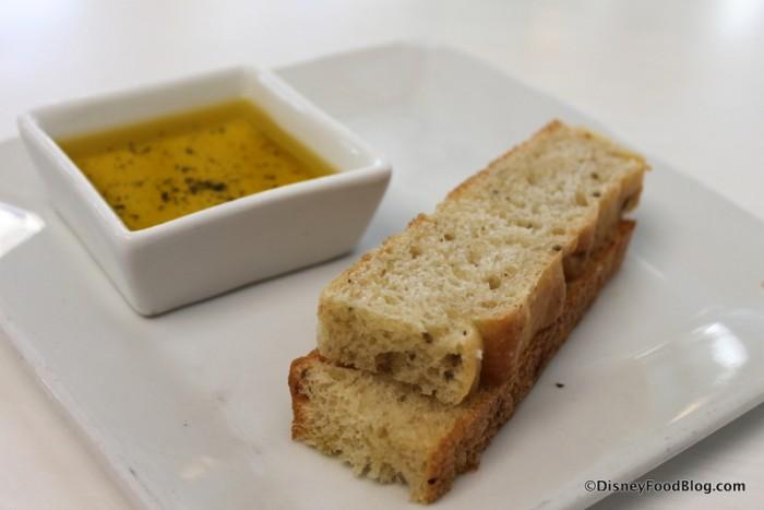Bread Service -- Focaccia and Seasoned Olive Oil