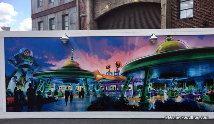 Construction Walls with Toy Story Land Concept Art