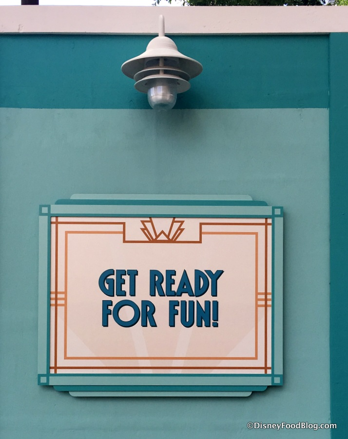 Construction Sign at Hollywood Studios
