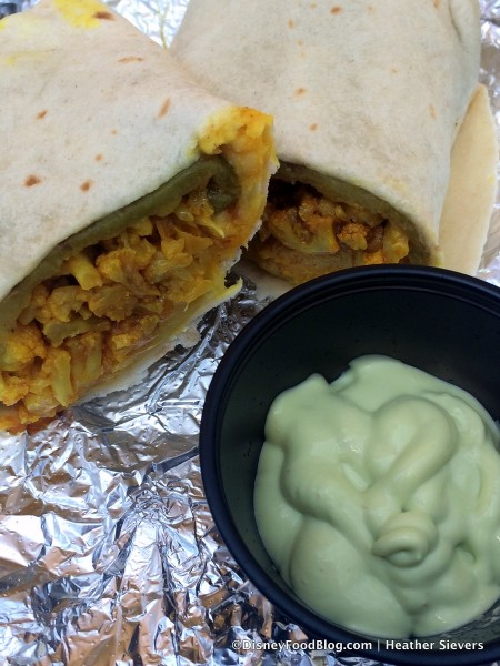 Inside Chile and Cauliflower Burrito