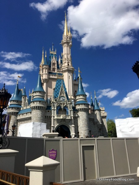 Mickey's Royal Friendship Faire stage construction