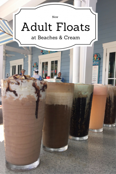 New Adult Beverage and Hard Floats Menu at Beaches & Cream Soda Shop!!