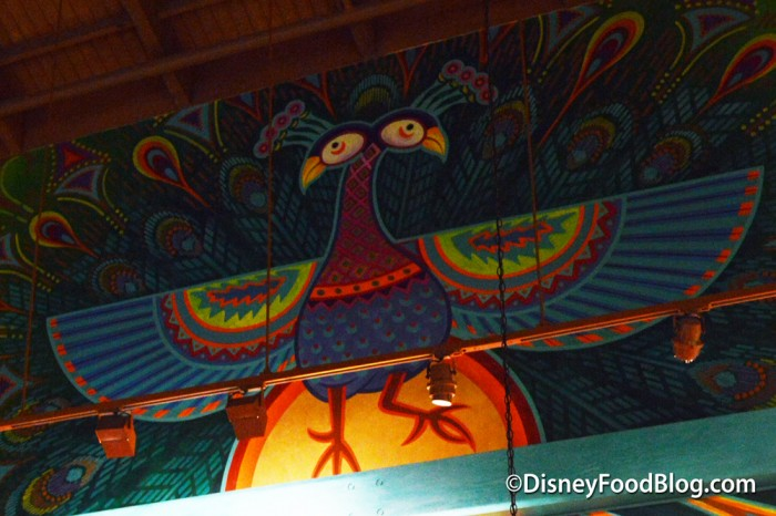 Painted Peacock Above the Ordering Area
