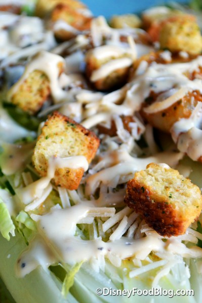 Shredded Parmesan and Croutons